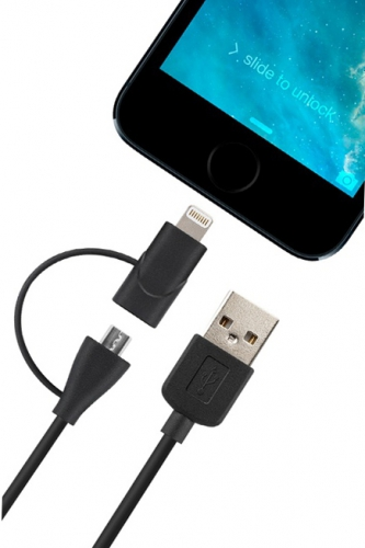 Cable 2 en 1 - LIGHTNING/MICRO USB