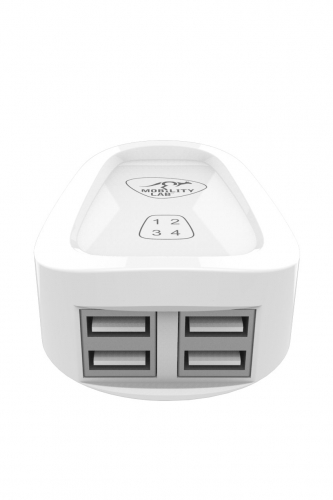 Chargeur mural 4 ports USB BLANC