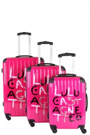 Ensemble de 3 Valises - 15398/3 FUCHSIA