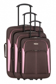 Ensemble de 3 Valises - CANEA MARRON