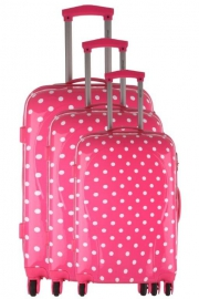 Ensemble de 3 Valises - CASSINO ROSE