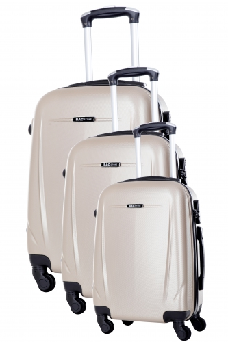Ensemble de 3 Valises - HOLIDAY  BEIGE