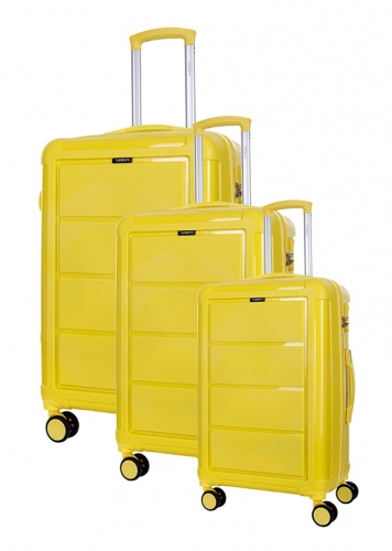 Ensemble de 3 Valises INCASSABLES  - ARCADIAN JAUNE