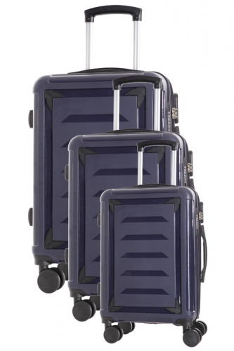 Ensemble de 3 Valises INCASSABLES  - GOLDBERG MARINE