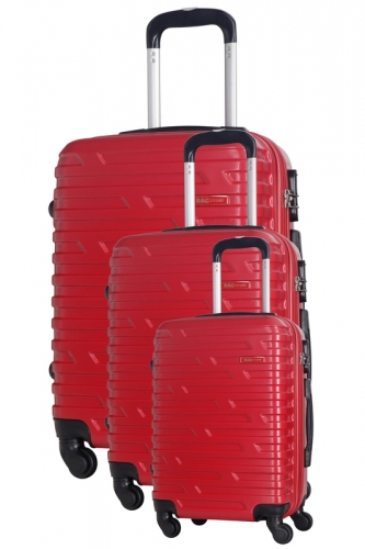 Ensemble de 3 Valises - TWISTER  ROUGE