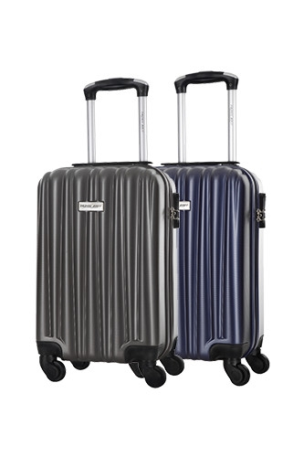 Lot de 2 Valises Low Cost - GUAZAPA GRIS + MARINE