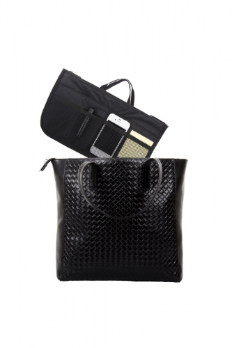 Pochette multi-compartiments - NOIR