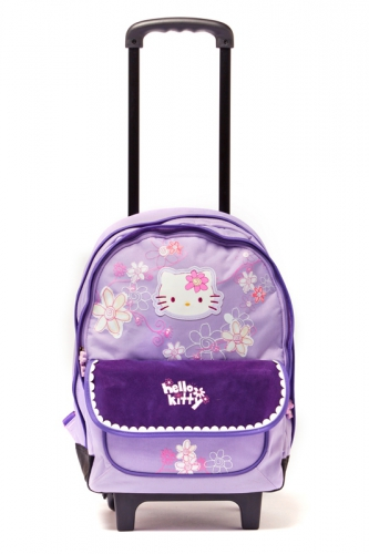 Sac à dos 2 Compartiment à roulettes - HELLO KITTY VIOLET
