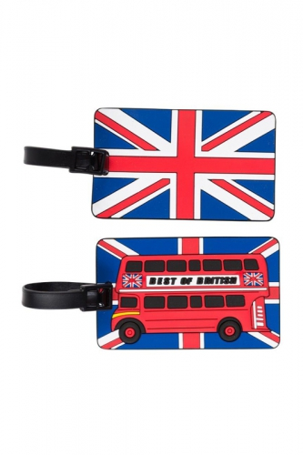 Set de 2 étiquettes - LONDRES BUS
