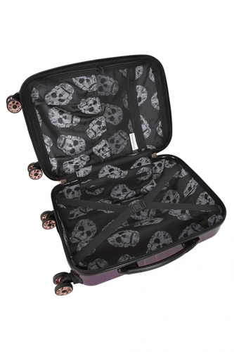 Valise - CANDY SKULL VIOLET - Taille M