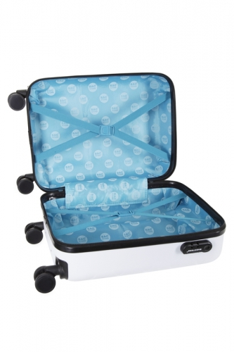 Valise Low Cost - ARLEQUIN  BLANC