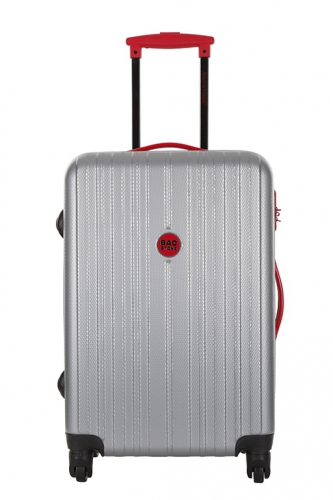 Valise Low Cost - MILADY ARGENT/ROUGE
