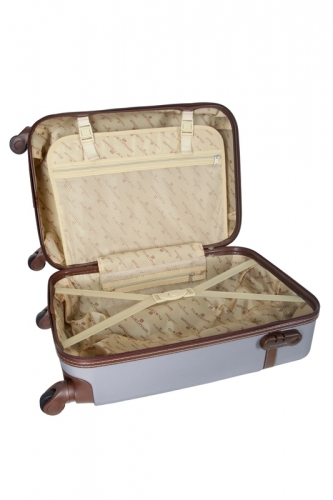 Valise -TRENDY  ARGENT -  Taille L